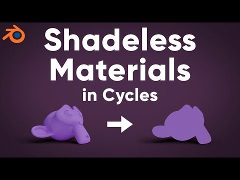 Blender Tutorial - Shadeless Materials in Cycles