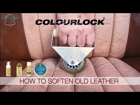 How to soften old leather of car seats - www.colourlock.com