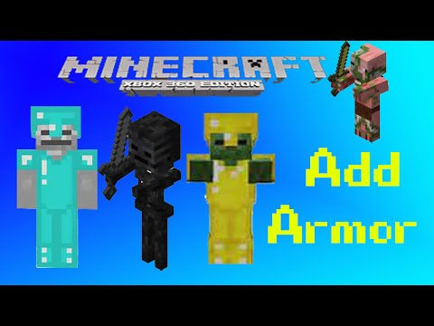 Minecraft Xbox 360/Xbox One/PS3/PS4/Wii U /PC How to put armor and weapons on mobs