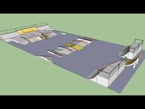GOOGLE SKETCHUP: SKATEPARK DESIGN   PROYECTO CAPIATA SKATEPARK   PARAGUAY