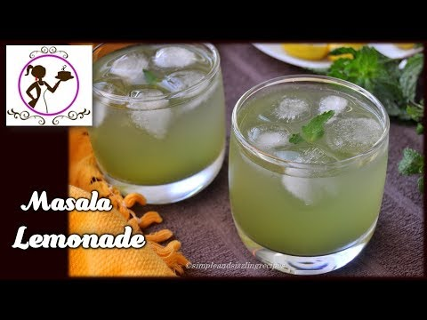 Spicy Masala Lemonade Recipe - How to Store for a Month | Instant Summer Drink Masala Lemonade