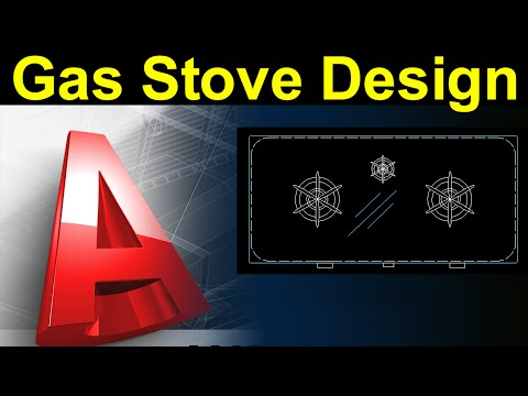 Autocad Tutorial:Gas Stove Block Design