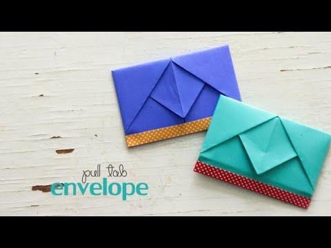 DIY Pull Tab Envelopes