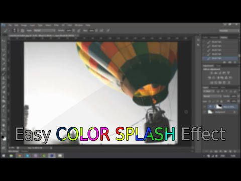 How to create a color splash effect in Photoshop CS6 | EASY