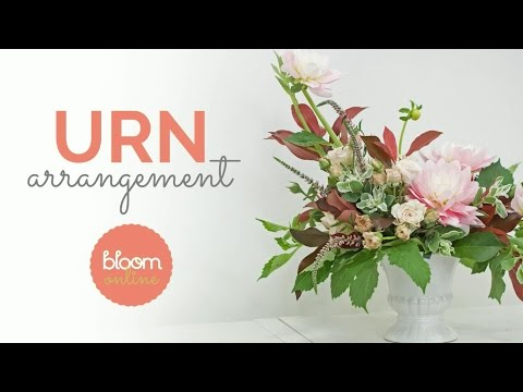 Urn Flower Arrangement Demo and Recipe Card