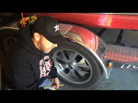 Check your tire pressure on the trailer