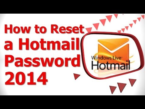 How to Reset a Hotmail Password 2014