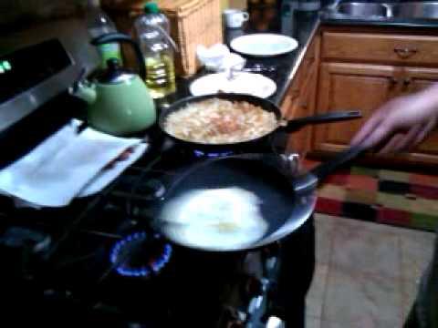 How a Flip flips 2 eggs...