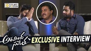 NTR and Trivikram Interviewed by Sunil about Aravindha Sametha Movie || Pooja Hegde - Filmyfocus.com