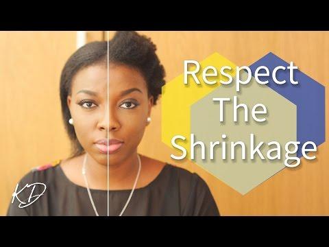 RESPECT THE SHRINKAGE | STRAIGHTENING 4C AFRO HAIR | KIM DAVE