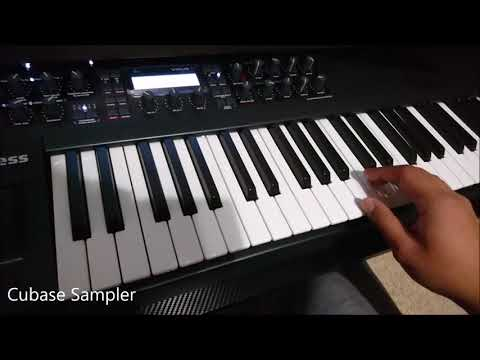 Quick and Short Cover Demo using Roland Aira, Virus Ti, Korg M1, and Cubase
