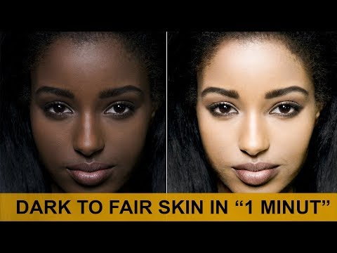 How to Change Skin Colour from Dark to Light in Photoshop