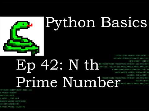 Python Basics nth prime number