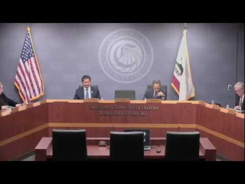 CCC Board of Governors Meeting | January 2018, Part A