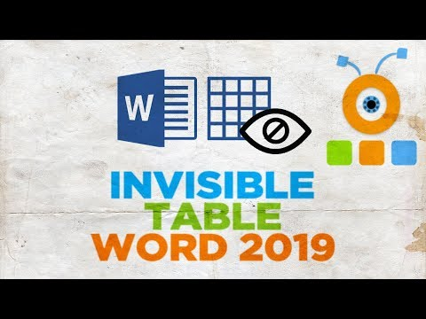 How to Create an Invisible Table in Word 2019