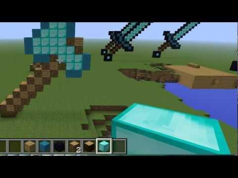 how to build a diamond axe statue!!