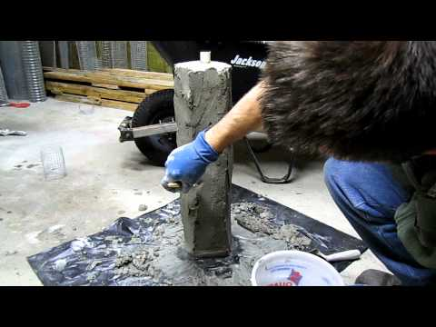 Hand Sculpting Concrete Stone Garden Light