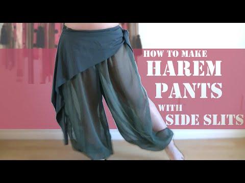DIY Harem Pants with Slits on Side