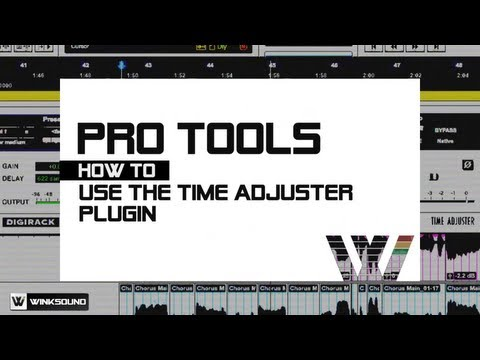 Pro Tools: Create Vocal Doubles Using the Time Adjuster Plugin | WinkSound