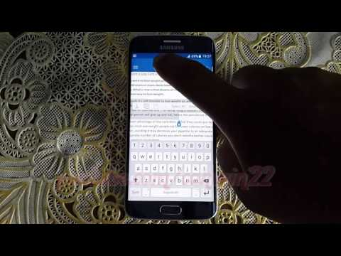 Microsoft Word For Android : How to change font size on Samsung Galaxy S6