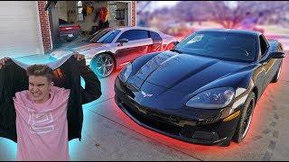 MY BEST FRIEND FINALLY GOT HIS DREAM CAR!! *R8 VS CORVETTE*