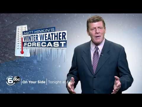 Matt's Winter Weather Forecast TONIGHT at 6:00