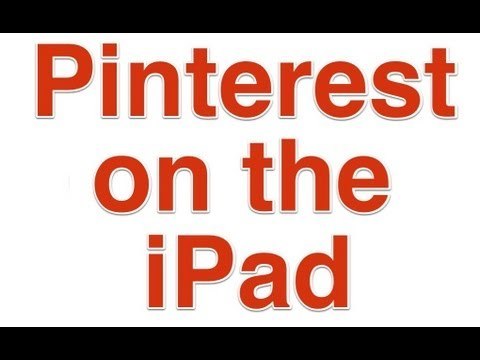 Pinterest App for the iPad