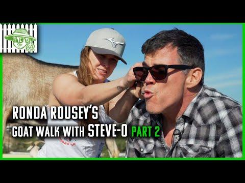 Ronda And Steve-O Talk WWE Return, UFC, Gina Carano, And A Bieber Fight | Steve-O GOAT Walk Part 2