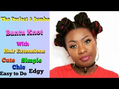 D.I.Y. 2 Different ways to do Jumbo Bantu Knot | Beginner Friendly| Perfect for all Hair types