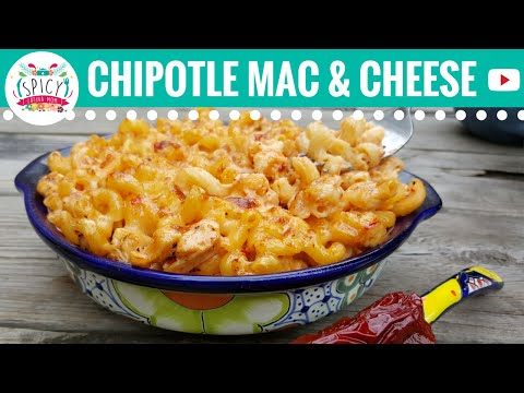Macaroni and Cheese with Chipotle | TexMex Recipes and Mexican Food - Spicy Latina Mom