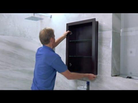 Install a Trio Recessed Bathroom Cabinet including frame