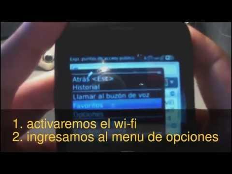 Navegador de Blackberry 8520 con Wi-Fi