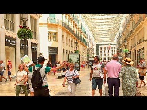 MÁLAGA WALK   City Centre - Main Shopping Streets   Spain