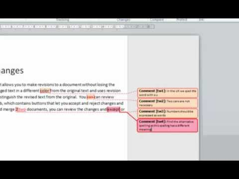 MS Word:Track Changes