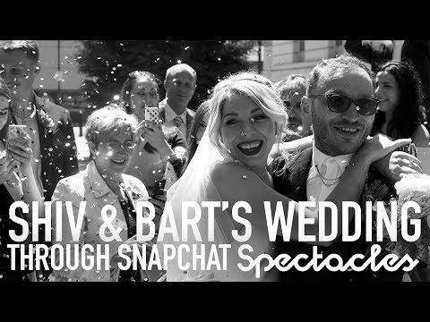 London Wedding through snapchat spectacles - Shiv & Bart June 2017