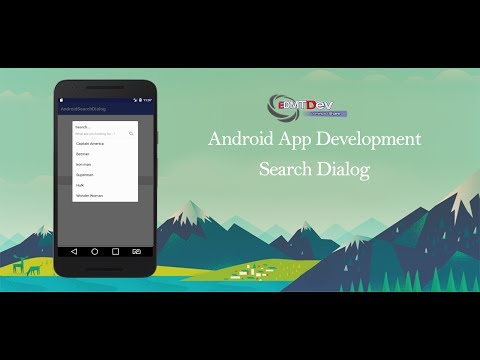 Android Development Tutorial - Search Dialog