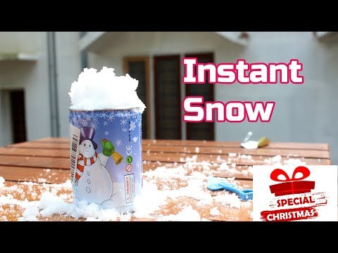 How to make Instant Snow   Christmas Special   Flopcloud
