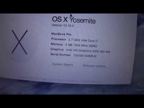 Macbook Pro Core i7 4gb 500gb hd for sale on eBay by cyberinfinity