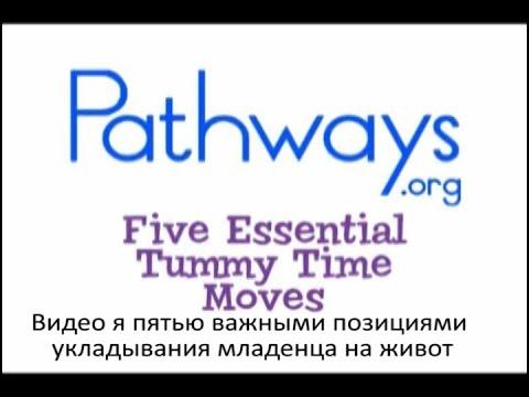 Видео я пятью важными позициями укладывания младенца на живот    Russian Tummy Time Moves