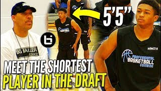 Lavar Ball WATCHES the SHORTEST PLAYER in the DRAFT! 5