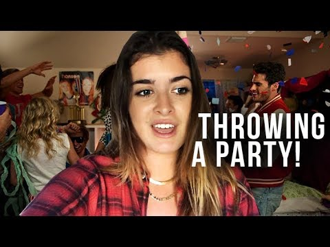 COLLEGE VLOG : Party-planning, shopping & a baby?