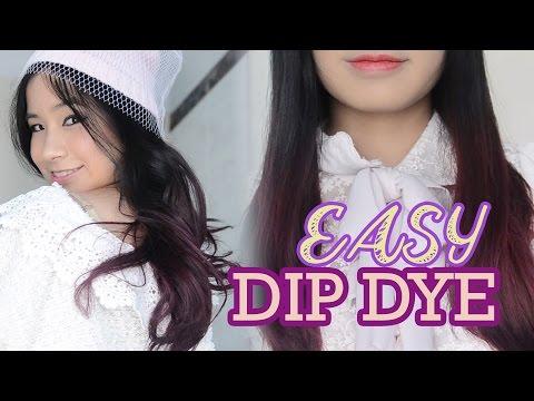 PURPLE HAIR! How to: EASY Dip Dye Hair at Home! | Asian Hair