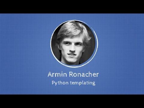 Armin Ronacher about Python templating at Django: Under The Hood