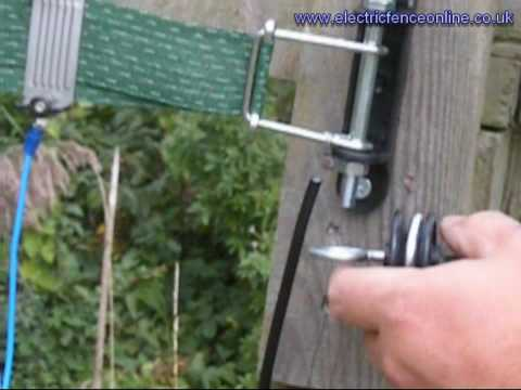 Using Underground Lead-Out Cable for electric fence gates