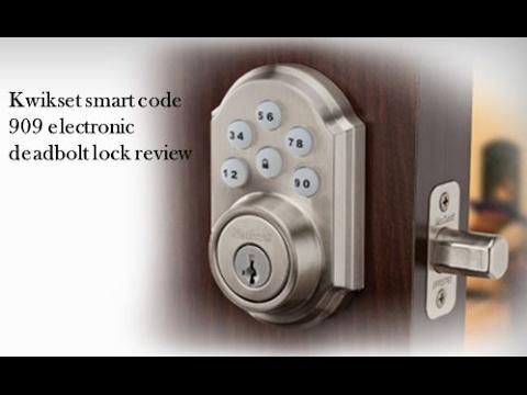 Kwikset smart code 909 electronic deadbolt lock review 909 15 SMT CP SCR
