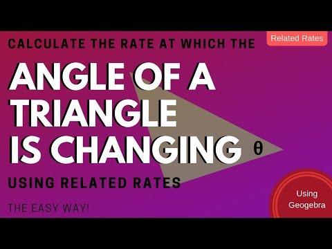 Calculus - Related Rates - Sliding Ladder - Triangle Angle Model using Geogebra