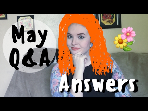 May Q&A Answers - tattoo recommendations, piercing jewelry, and blorange hair