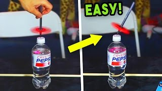 5 ULTIMATE FIDGET SPINNER TRICKS! (FLOATING PEN & BOTTLE TRICK)