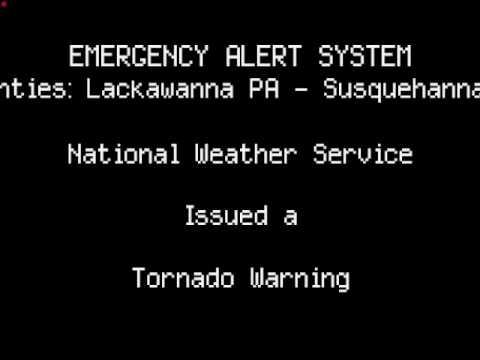 EAS: NEPA Tornado Warning (WITH ACTUAL NWS AUDIO)