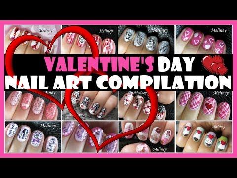 VALENTINE'S DAY NAIL ART COMPILATION | MELINEY DESIGNS